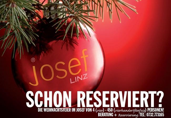 Weihnachtsfeier im Josef, schon reserviert?