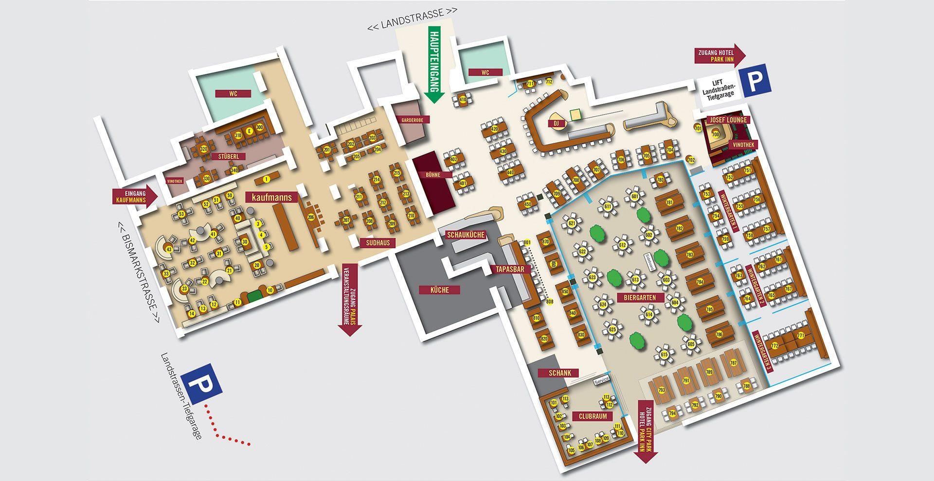 Josef Location-Plan